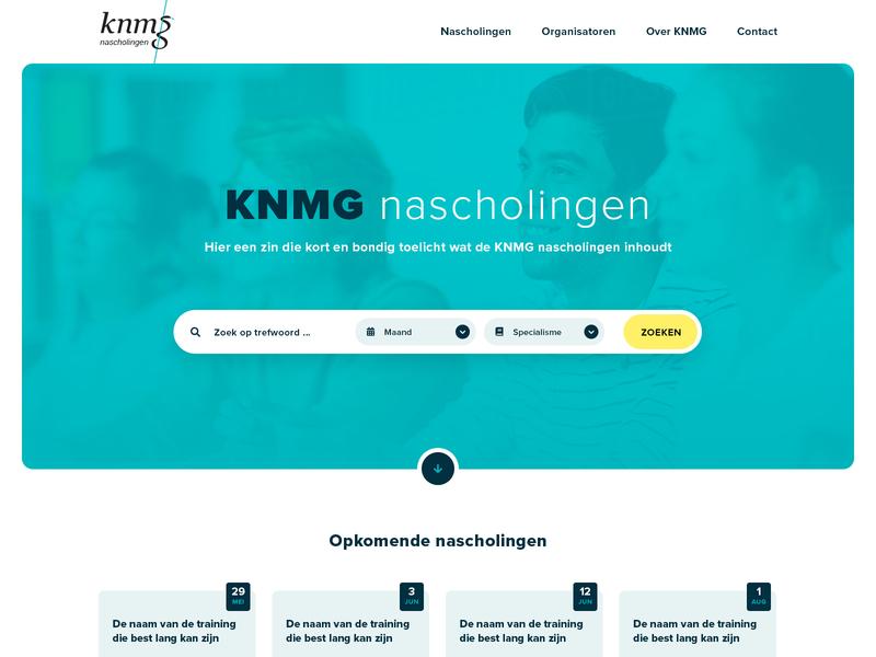 KNMG nascholingen website design website web design
