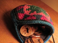 Heart coin hacky sack hurts your feet