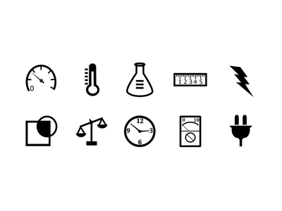 Science Icons design ios electronics science graphic illustration icons sketch