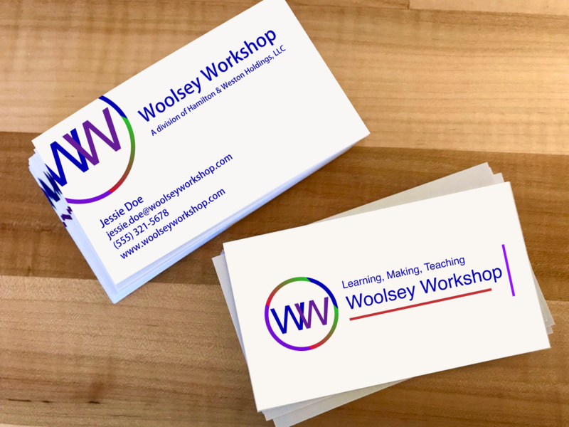 Woolsey Workshop Logo and Business Card logo design design procreate sketch business card logodesign logo