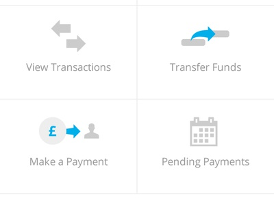 iOS 7 Barclays App Account Overview barclays banking app mobile iphone ui bank app white blue money transactions ios7