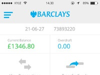 Barclays account overview