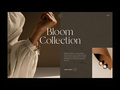 Contemporary Jewellery Website lookbook concept brown jewelery jewellery shop ecommerce website
