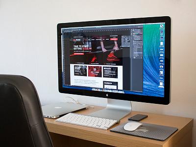 Home Workspace workspace home iphone desk macbook pro thunderbolt display