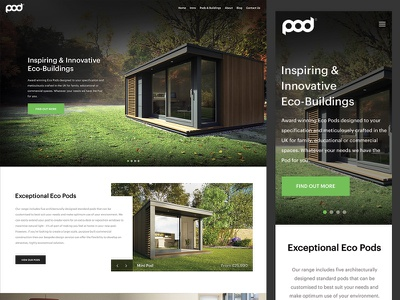 Outdoor Space Website homepage layout offices architecture garden outdoor green minimal web design website