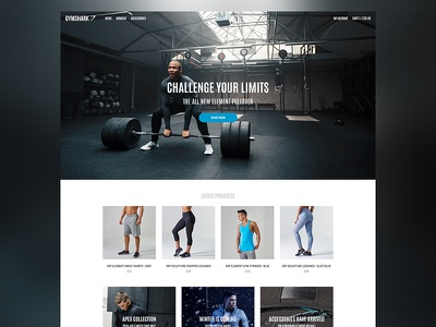 Gymshark Redesign home shop clothing fitness gym website ecommerce