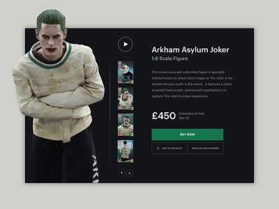 Daily UI - Product Card interface ecommerce suicide squad joker dark product product card daily ui