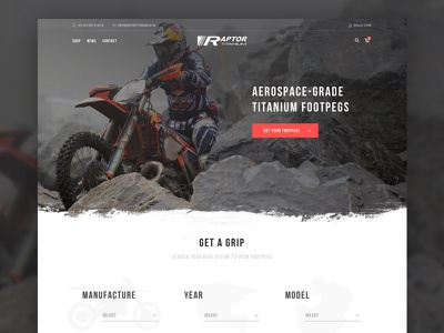 New site for Motocross Footpeg Manufacture ui ux product search shop ecommerce grunge supermoto mx motocross website homepage