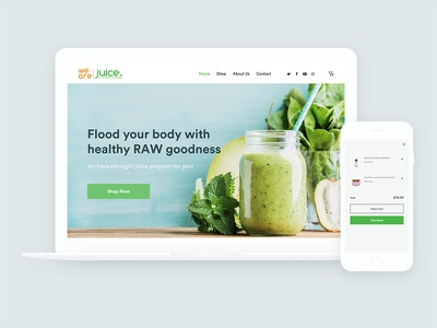 We Are Juice: Raw & Organic Juices wordpress pastel food health shop ecommerce site smoothie juice website