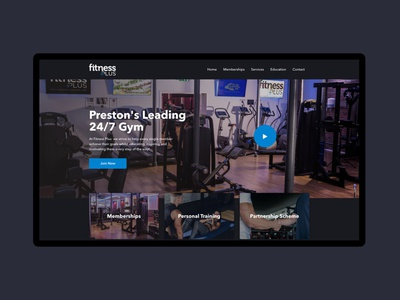 Fitness Plus - Gym Website