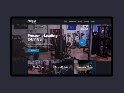 Fitness Plus - Gym Website ux ui fitness dark landing page homepage website gym