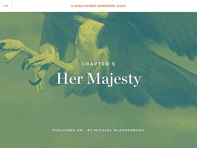 Her Majesty gotham chronicle hoefler  frere-jones background image