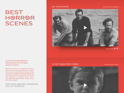 Best Horror Scenes black and white halftone hoefler typography responsive ringside red