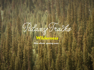 Palaxy Tracks, Wilderness — New album coming soon palaxy tracks wilderness trees holding verlag album keith davis young