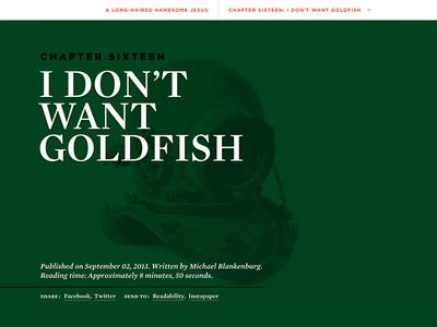 Chapter 16: I Don't Want Goldfish