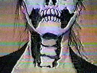 Halloween make-up tips, via rock music video