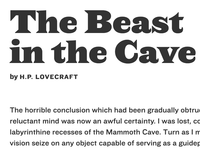 Early type pairings for an H.P. Lovecraft project