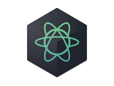 Atom Icon (Dark) rebound icons dark icon atom