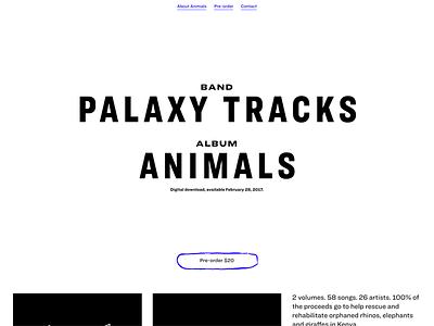 My album for Animals hoefler  co. ringside website music charity animals palaxy tracks