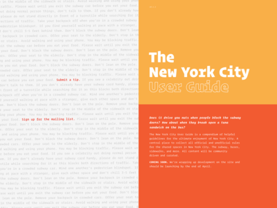 The New York City User Guide