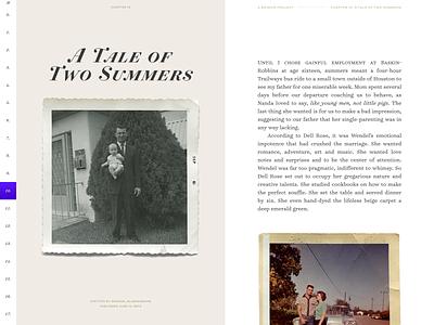 A Memoir Project, take 2 hoefler memoir ringside surveyor typography