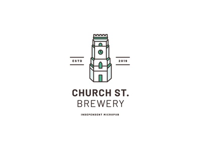 Church St. Brewery Logo Concept