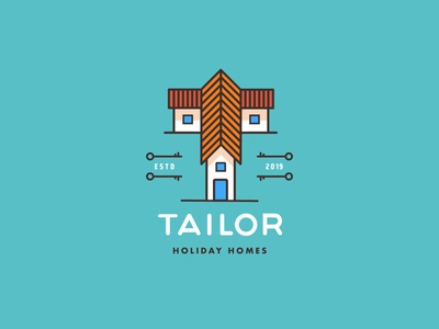 Tailor Holiday Homes Logo Concept