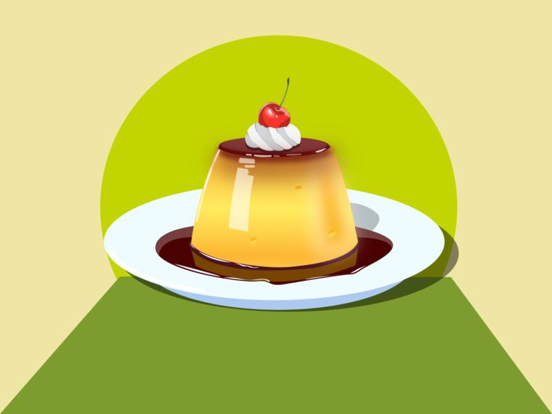pudding pudding vector illustration