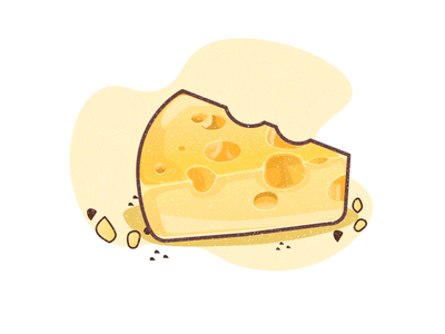 cheese cheese gradient vector illustration
