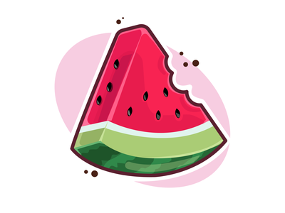 watermelon illustraion vector watermelon