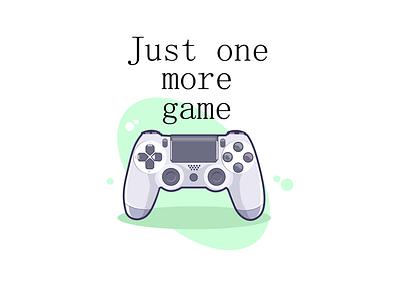 Just one more game gamer vector illustration