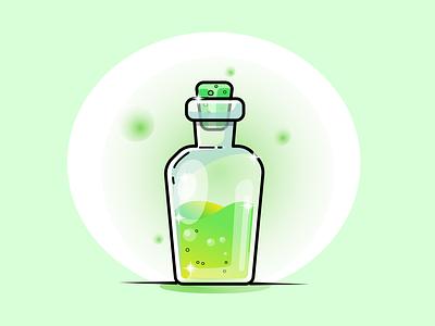 Potion potion gradient vector illustration