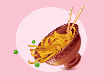 Noodles illustraion illustrator vector noodles