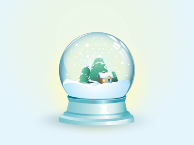Snow globe snowglobe gradient vector illustration