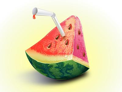 watermelon watermelon vector gradient illustration il graphic design