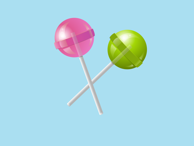 Lollipops gradient vector lollipop illustration