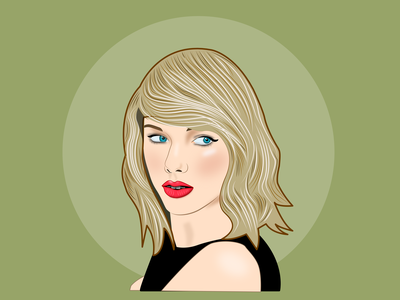 Taylor swift vector portrait taylor swift vector illustration