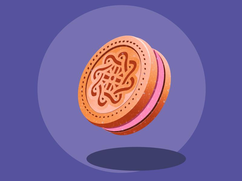 Biscuit gradient biscuit vector illustration