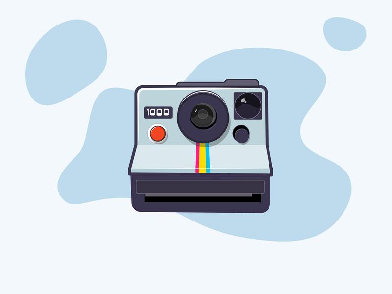 polaroid camera polaroid vector illustration