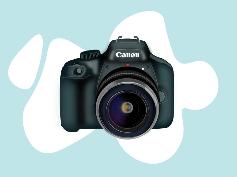 camera gradient vector illustration