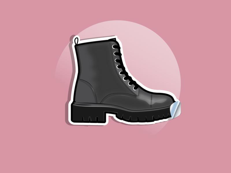 boots sticker sticker design boots gradient illustration