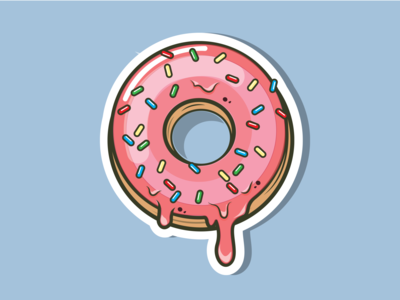 donut sticker donut sticker vector illustration