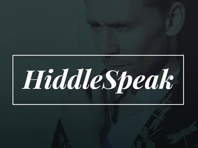 HiddleSpeak login mobile app ui app tom hiddleston