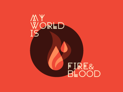 Fire & Blood illustration flat fire vector type red icon fury road mad max iconography typography