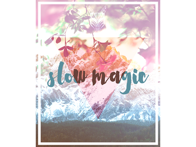 Slow Magic Poster  print music poster music typography poster slow magic