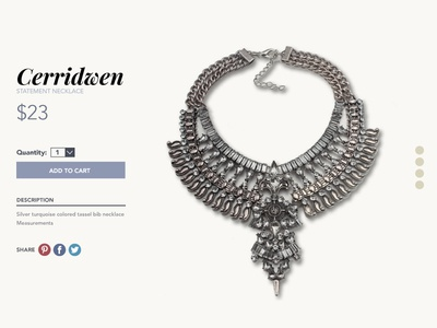 UI Product Page shop web online store jewelry fashion product product page ux ui ecommerce