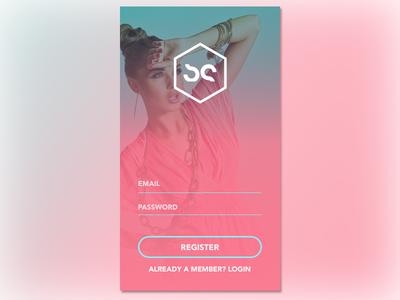 Daily UI 001 - Sign Up sketch fashion pink landing screen login screen sign up app mobile ui dailyui daily ui