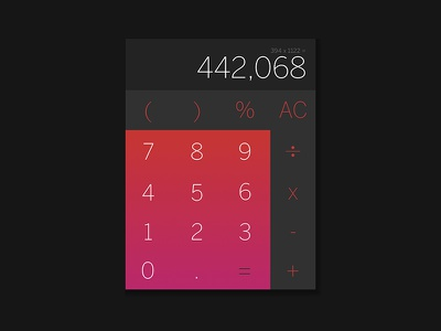 004 Daily UI - Calculator interface ui calculator daily ui