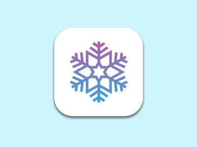 Daily UI 005 - App Icon app icon ui 005 snowflake snow app icon daily ui