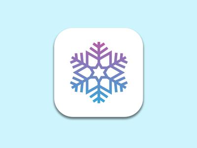 Daily UI 005 - App Icon app icon ui 005 snowflake snow app icon daily ui